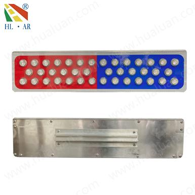 太陽能矩形警示標(紅藍爆閃燈)